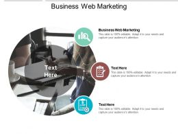 Business Web Marketing Ppt Powerpoint Presentation Gallery Example File Cpb