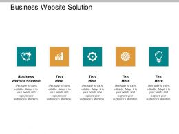 Business Website Solution Ppt Powerpoint Presentation Inspiration Example Cpb