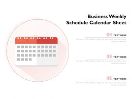 Business Weekly Schedule Calendar Sheet