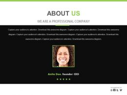 Business Woman Skill Profile For Professional Company Powerpoint Slides