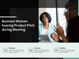 Business Women Hearing Product Pitch During Meeting