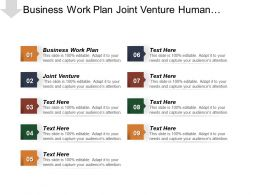 Business Work Plan Joint Venture Human Resources Responsibilities