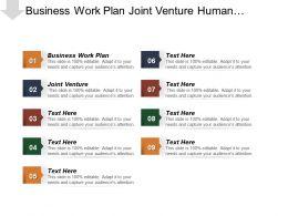 Business Work Plan Joint Venture Human Resources Responsibilities