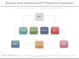 Business Work Relationship Ppt Powerpoint Presentation