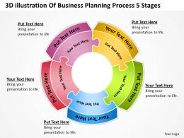 business_workflow_diagram_3d_illustration_of_planning_process_5_stages_powerpoint_slides_Slide01
