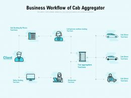 Business Workflow Of Cab Aggregator