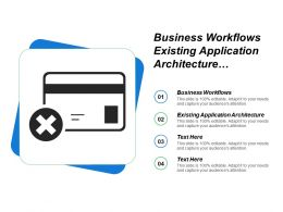Business Workflows Existing Application Architecture Support Delivery Services