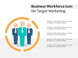 Business Workforce Icon For Target Marketing