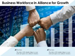 Business Workforce In Alliance For Growth
