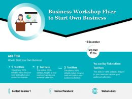 Business Workshop Flyer To Start Own Business