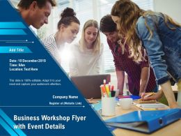Business Workshop Flyer With Event Details