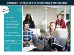 Business Workshop For Improving Performance