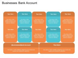Businesses Bank Account Ppt Powerpoint Presentation File Graphics Pictures Cpb