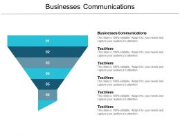 Businesses Communications Ppt Powerpoint Presentation Inspiration Skills Cpb