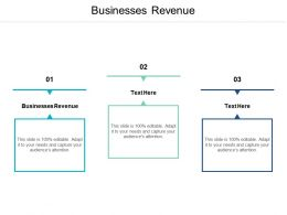 Businesses Revenue Ppt Powerpoint Presentation File Template Cpb