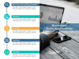 Businesses Social Responsibility Ppt Powerpoint Presentation Professional Clipart Images Cpb