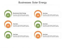 Businesses Solar Energy Ppt Powerpoint Presentation Outline Clipart Cpb