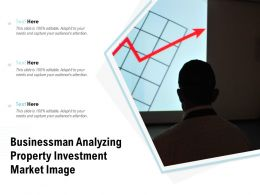 Businessman Analyzing Property Investment Market Image