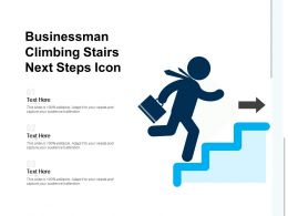 Businessman Climbing Stairs Next Steps Icon