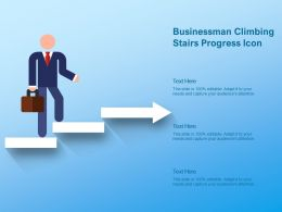 Businessman Climbing Stairs Progress Icon