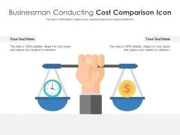 Businessman Conducting Cost Comparison Icon