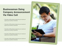 Businessman Doing Company Announcement Via Video Call