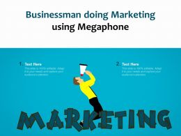 Businessman Doing Marketing Using Megaphone