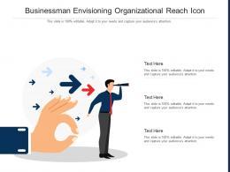 Businessman Envisioning Organizational Reach Icon