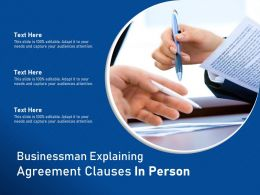 Businessman Explaining Agreement Clauses In Person