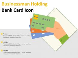 Businessman Holding Bank Card Icon