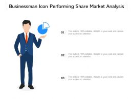 Businessman Icon Performing Share Market Analysis