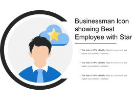 Businessman Icon Showing Best Employee With Star