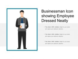 Businessman Icon Showing Employee Dressed Neatly