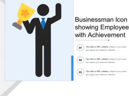 Businessman Icon Showing Employee With Achievement