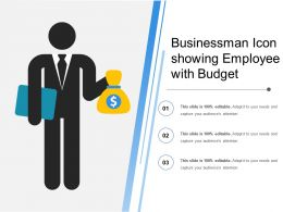 Businessman Icon Showing Employee With Budget