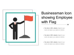 Businessman Icon Showing Employee With Flag