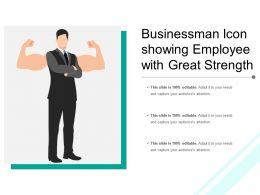 Businessman Icon Showing Employee With Great Strength