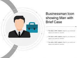 Businessman Icon Showing Man With Brief Case