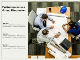 Businessman In A Group Discussion