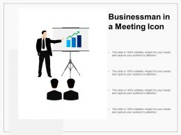 Businessman In A Meeting Icon