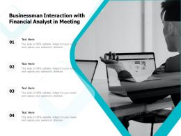 Businessman Interaction With Financial Analyst In Meeting