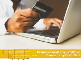 Businessman Making Remittance Transfer Using Credit Card