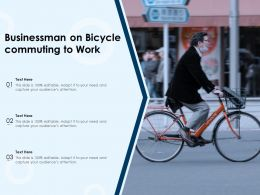 Businessman On Bicycle Commuting To Work