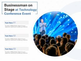 Businessman On Stage At Technology Conference Event