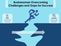 Businessman Overcoming Challenges And Gaps For Success