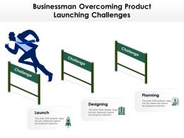 Businessman Overcoming Product Launching Challenges