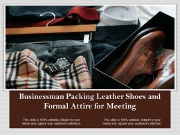 Businessman Packing Leather Shoes And Formal Attire For Meeting