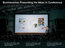 Businessman Presenting His Ideas In Conference