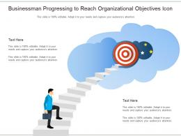 Businessman Progressing To Reach Organizational Objectives Icon