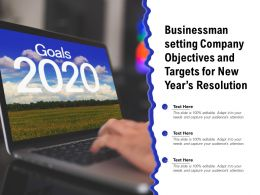 Businessman Setting Company Objectives And Targets For New Years Resolution